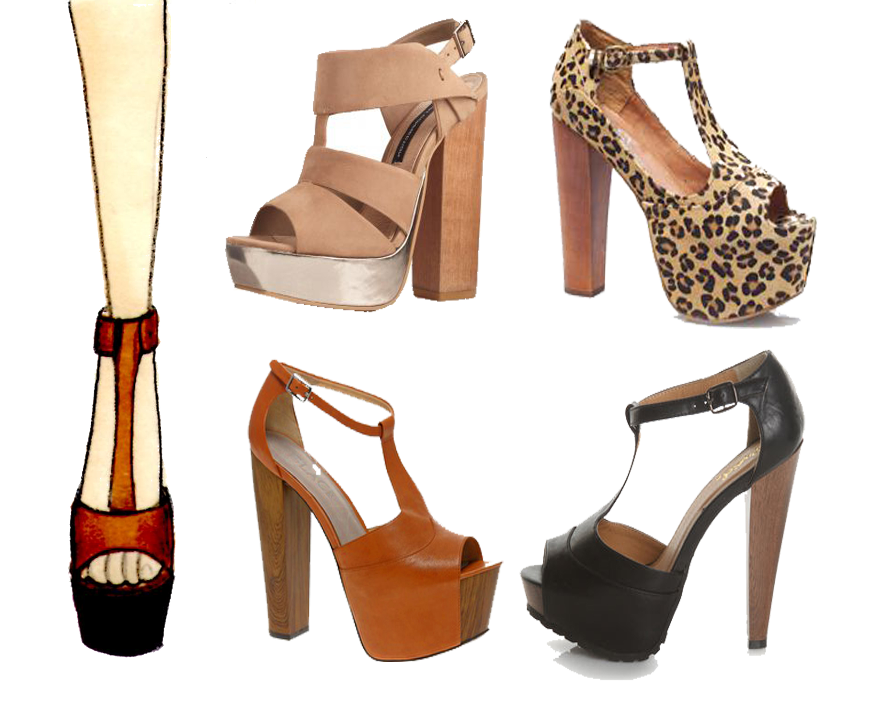 Chunky Wooden Heels - Is Heel