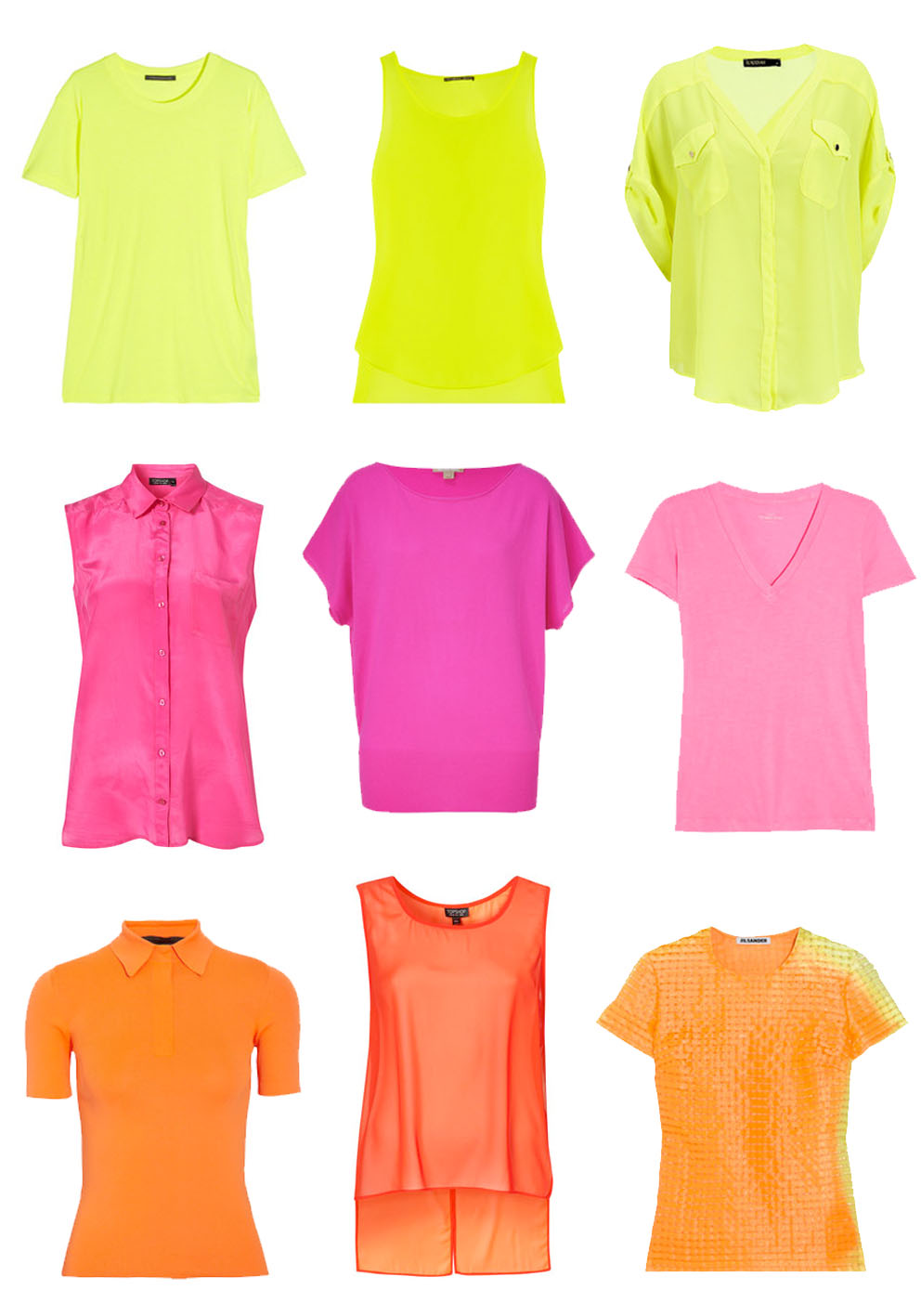 Theory Neon Yellow Blouse 88
