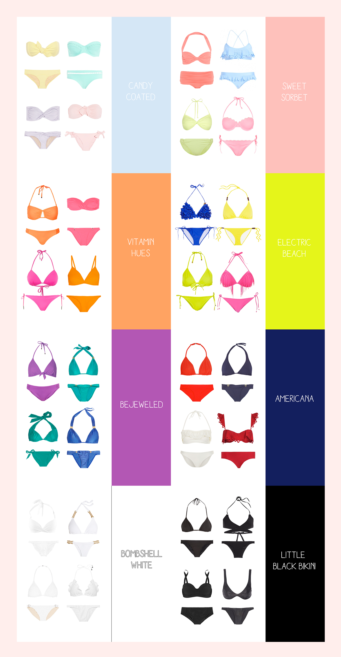 Bikini season 2013 summer colors sweetnraw i wanted to whip up a little color chart just in case you wanna look at them together thats a wrap for our summer season coverage we are moving towards nvjuhfo Choice Image
